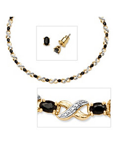 2 Piece 16.21 TCW Jewelry Set by PalmBeach Jewelry
