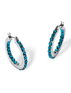 Brithstone Inside Out Hoop Earrings by PalmBeach Jewelry