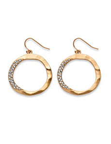 Circle Crystal Drop Earrings by PalmBeach Jewelry