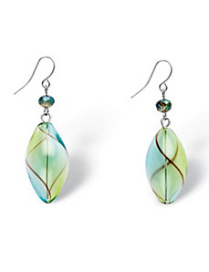 Blown Glass Drop Earrings by PalmBeach Jewelry