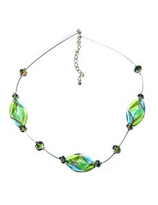 Blown Glass Illusion Necklace by PalmBeach Jewelry