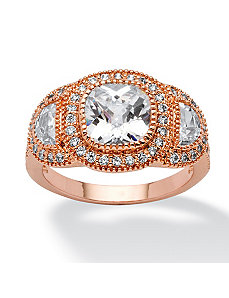 3.22 TCW Cubic Zirconia Ring by PalmBeach Jewelry