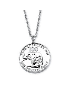 Elephant Foreign Coin Necklace by PalmBeach Jewelry