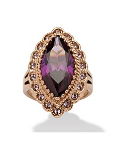 7.94 TCW Purple Cubic Zirconia Ring by PalmBeach Jewelry