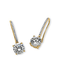 4.15 TCW Cubic Zirconia Earrings by PalmBeach Jewelry