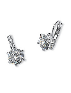8 TCW Cubic Zirconia Earrings by PalmBeach Jewelry