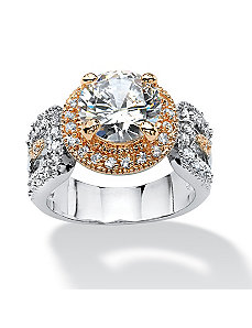 4.68 TCW Cubic Zirconia Ring by PalmBeach Jewelry