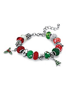 Holiday Beaded Bracelet by PalmBeach Jewelry