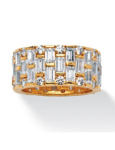 8.26 TCW Cubic Zirconia Eternity Band by PalmBeach Jewelry