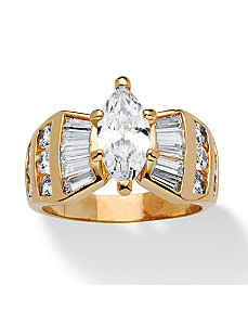 3.69 TCW Cubic Zirconia Ring by PalmBeach Jewelry