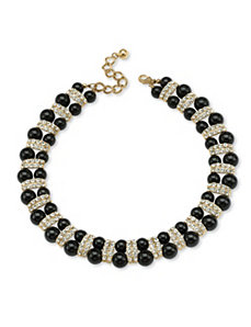 Black Beaded Necklace by PalmBeach Jewelry