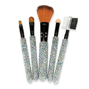 5 Piece Crystal Make-Up Brush Set