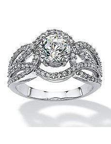2.76 TCW Cubic Zirconia Ring by PalmBeach Jewelry