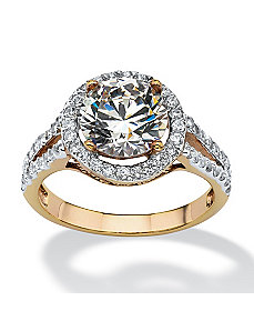 3 TCW Round Cubic Zirconia Ring by PalmBeach Jewelry