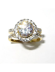 3.20 TCW Round Cubic Zirconia Ring by PalmBeach Jewelry