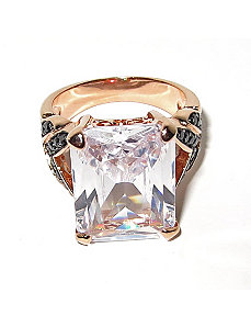 19.64 TCW Emerald-Cut Cubic Zirconia Ring by PalmBeach Jewelry