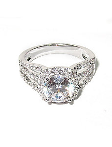 2.27 TCW Round Cubic Zirconia Ring by PalmBeach Jewelry