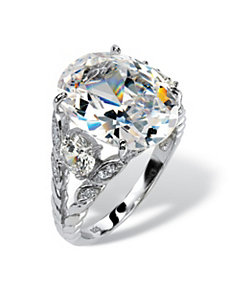 10.43 TCW Cubic Zirconia Ring by PalmBeach Jewelry