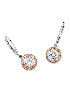 3.44 TCW Cubic Zirconia Earrings by PalmBeach Jewelry