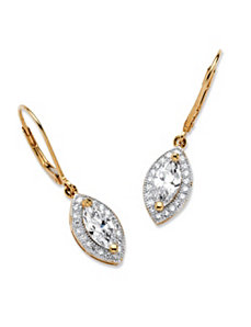 2.12 TCW Cubic Zirconia Earrings by PalmBeach Jewelry