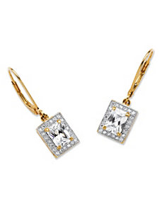 2.21 TCW Cubic Zirconia Earrings by PalmBeach Jewelry