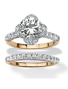 3.94 TCW Cubic Zirconia Ring by PalmBeach Jewelry