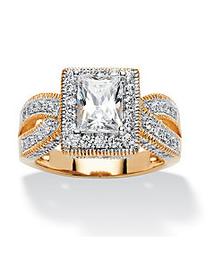 2.02 TCW Cubic Zirconia Ring by PalmBeach Jewelry