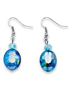 Art Glass Drop Earrings by PalmBeach Jewelry