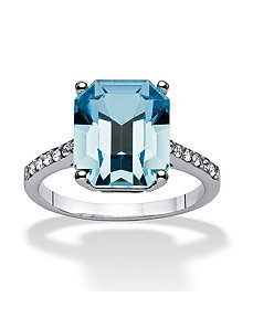 Capri Blue Swarovski Ring by PalmBeach Jewelry