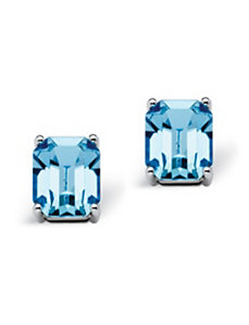 Capri Blue Swarovski Earrings by PalmBeach Jewelry
