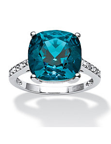 Blue Swarovski Crystal Ring by PalmBeach Jewelry