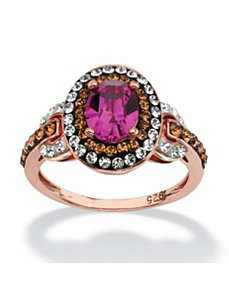 Fuschia Swarovski Crystal Ring by PalmBeach Jewelry