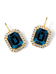 Indigo Swarovski Crystal Earrings by PalmBeach Jewelry