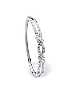 Pave Crystal Bangle Bracelet by PalmBeach Jewelry