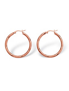 Textured Hoop Earrings by PalmBeach Jewelry