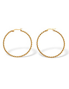 Twist Hoop Earrings by PalmBeach Jewelry