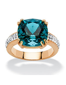 Denim Blue Crystal Ring by PalmBeach Jewelry