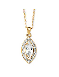 Marquise Swarovski Pendant Necklace by PalmBeach Jewelry