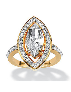 Marquise-Cut Crystal Ring by PalmBeach Jewelry