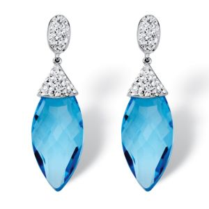 Caribbean Blue Crystal Earrings