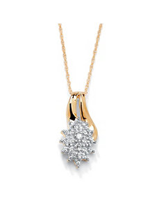 Diamond Accent Cluster Pendant by PalmBeach Jewelry