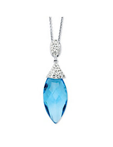 Caribbean Blue Pendant Necklace by PalmBeach Jewelry