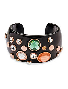 Crystal Studded Black Bracelet by PalmBeach Jewelry
