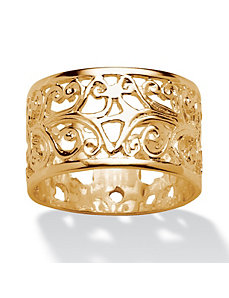 Ornate Scroll Design Band by PalmBeach Jewelry