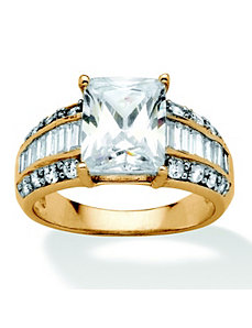 4.83 TCW Cubic Zirconia Ring by PalmBeach Jewelry