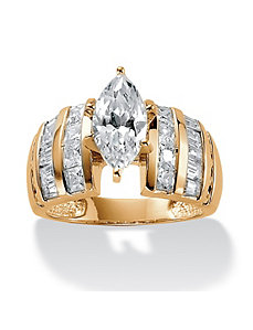 3.87 TCW Cubic Zirconia Ring by PalmBeach Jewelry