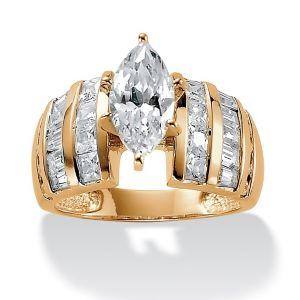 3.87 TCW Cubic Zirconia Ring