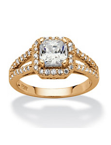 1.63 TCW Cubic Zirconia Ring by PalmBeach Jewelry