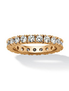 1.58 TCW Cubic Zirconia Eternity Ring by PalmBeach Jewelry