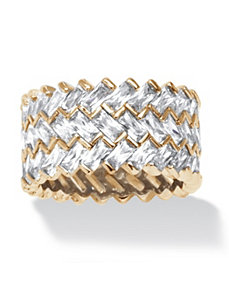 9.66 TCW Cubic Zirconia Ring by PalmBeach Jewelry